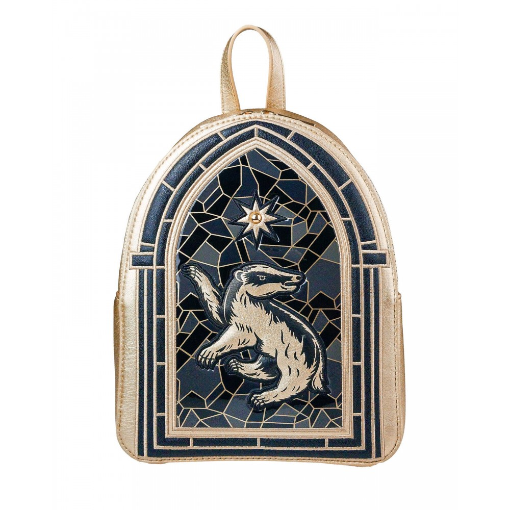Harry Potter Danielle Nicole Hufflepuff Stained Glass Backpack