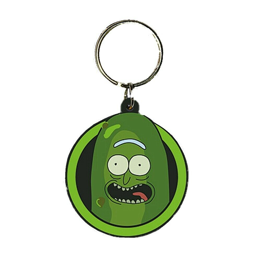 Rick And Morty Pickle Rick Keychain