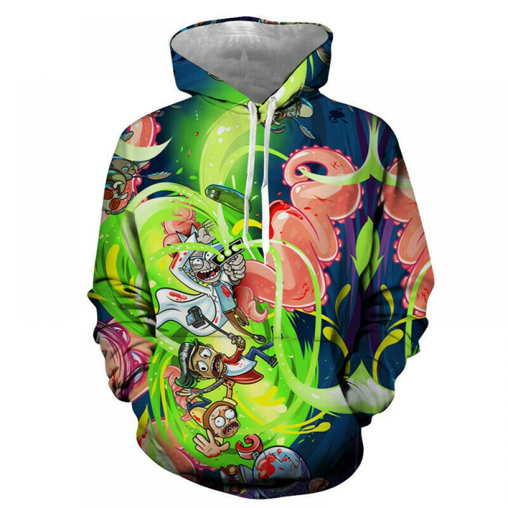 Rick And Morty 3D Funny Print Hoodie