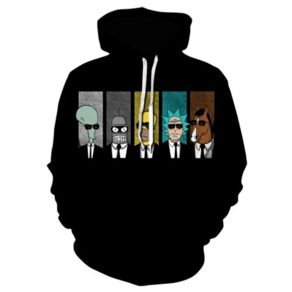 Rick And Morty MIB Hoodie