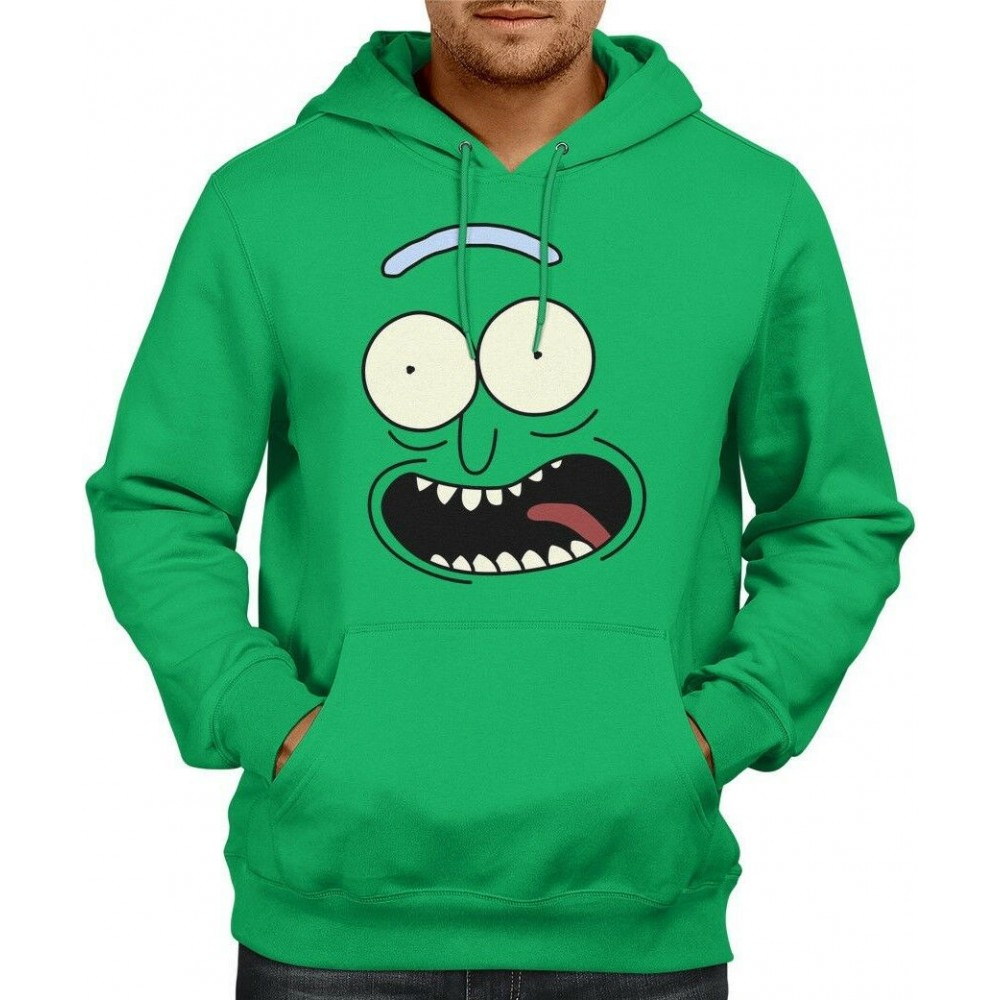 Rick And Morty Pickle Rick Face Hoodie