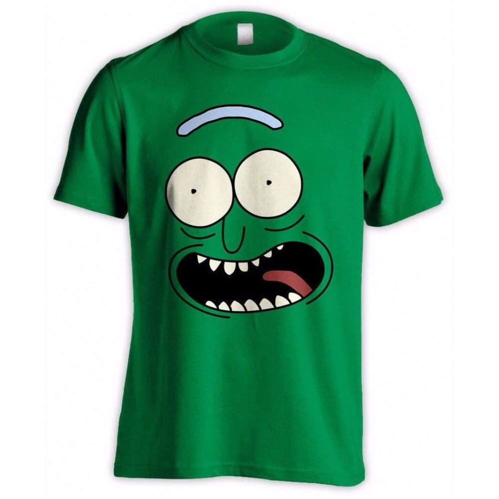Rick And Morty Pickle Rick Face T-Shirt