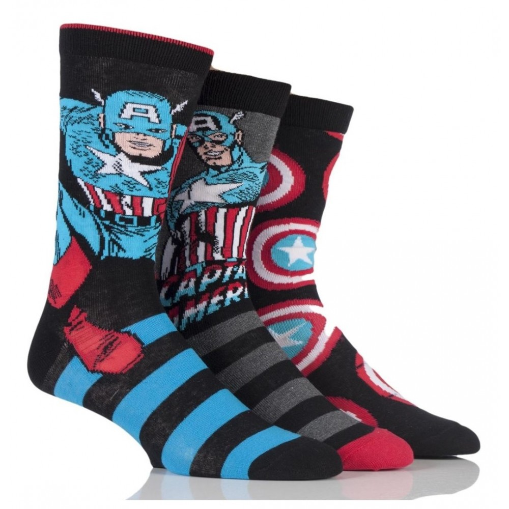 Captain America Superhero Socks
