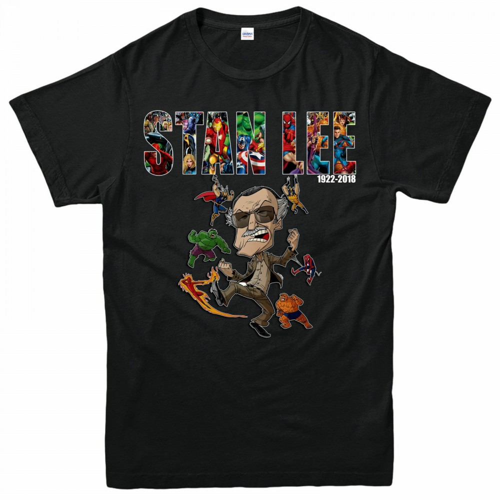 Marvel Stan Lee T-Shirt Avengers Hulk Spider-Man Kids T-shirt