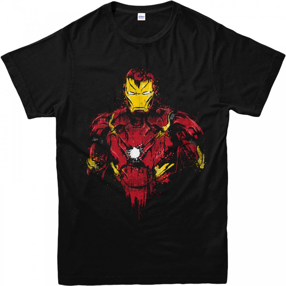 Iron Man Distressed T-shirt