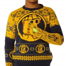 Avengers Infinity War Thanos Gauntlet Blue Knitted Jumper