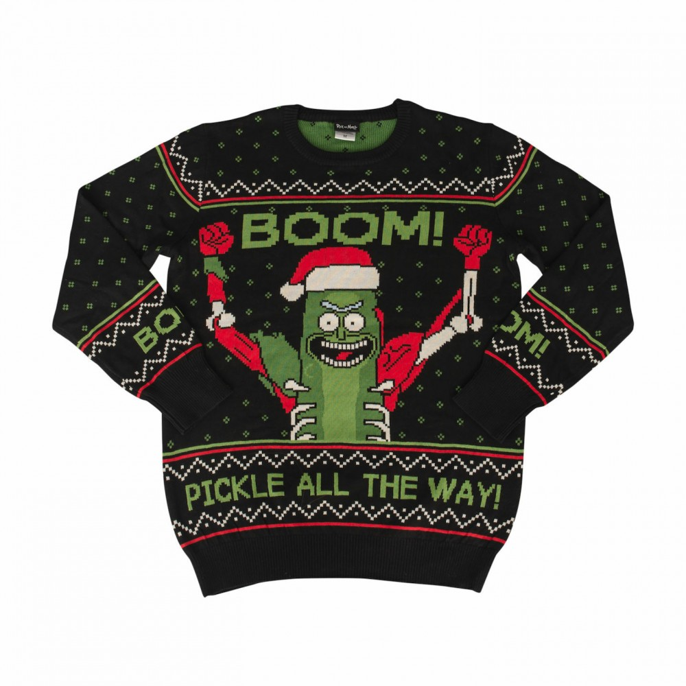 Rick And Morty Boom! PickleRick Adult Ugly Christmas Sweater
