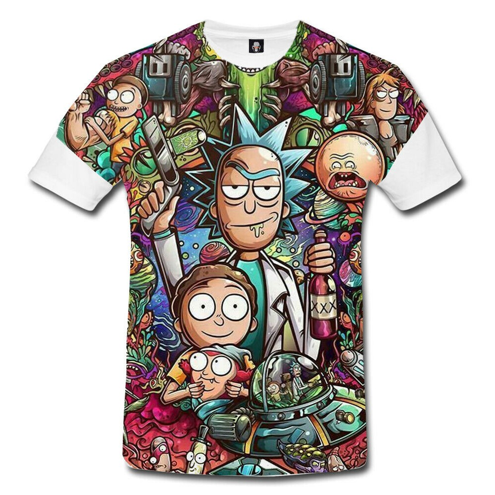 Rick And Morty Funny 3D Print T-Shirt