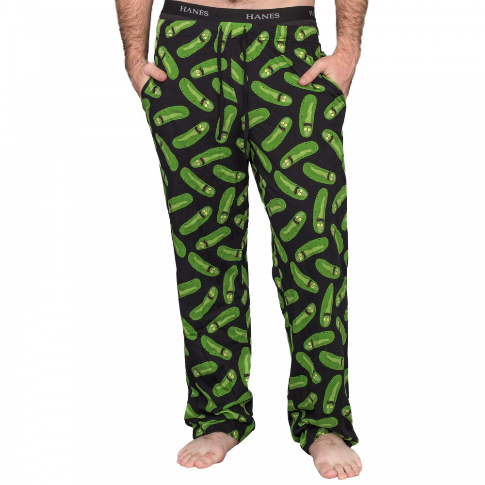Rick And Morty Pickle Rick Black and Green Lounge Pants