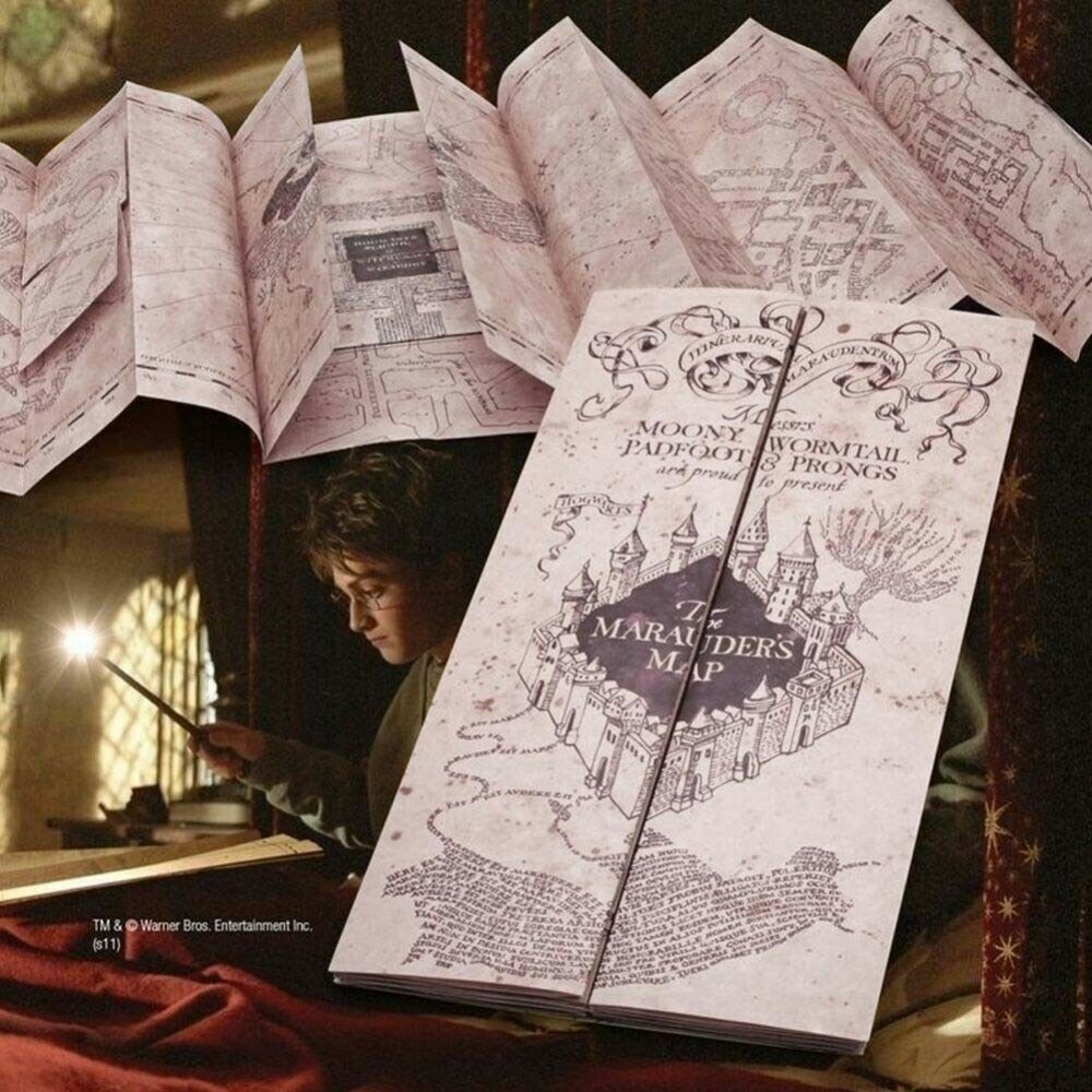 The Marauder's Map Hogwarts School of Witchcraft & Wizardry