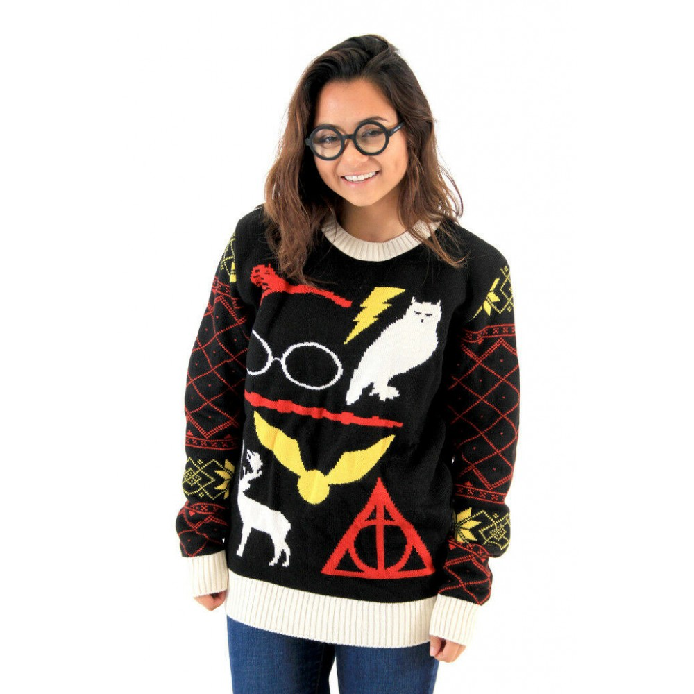 Harry Potter Deathly Hallows Owl Sweater