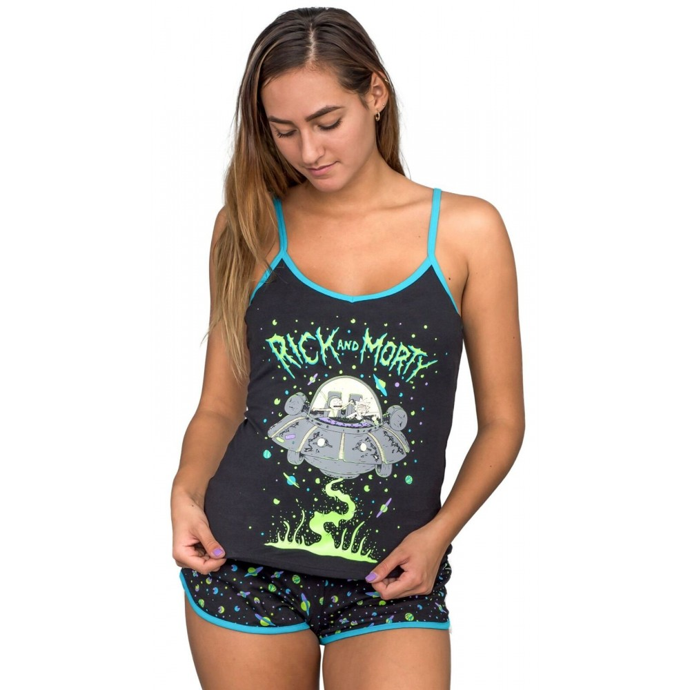 Rick And Morty Spaceship Women's Pajama Set