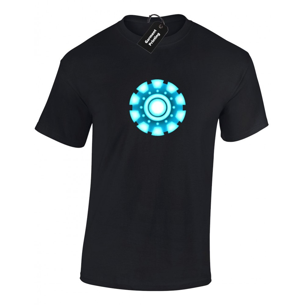 Iron Man Reactor Tony Stark Mens T-shirt