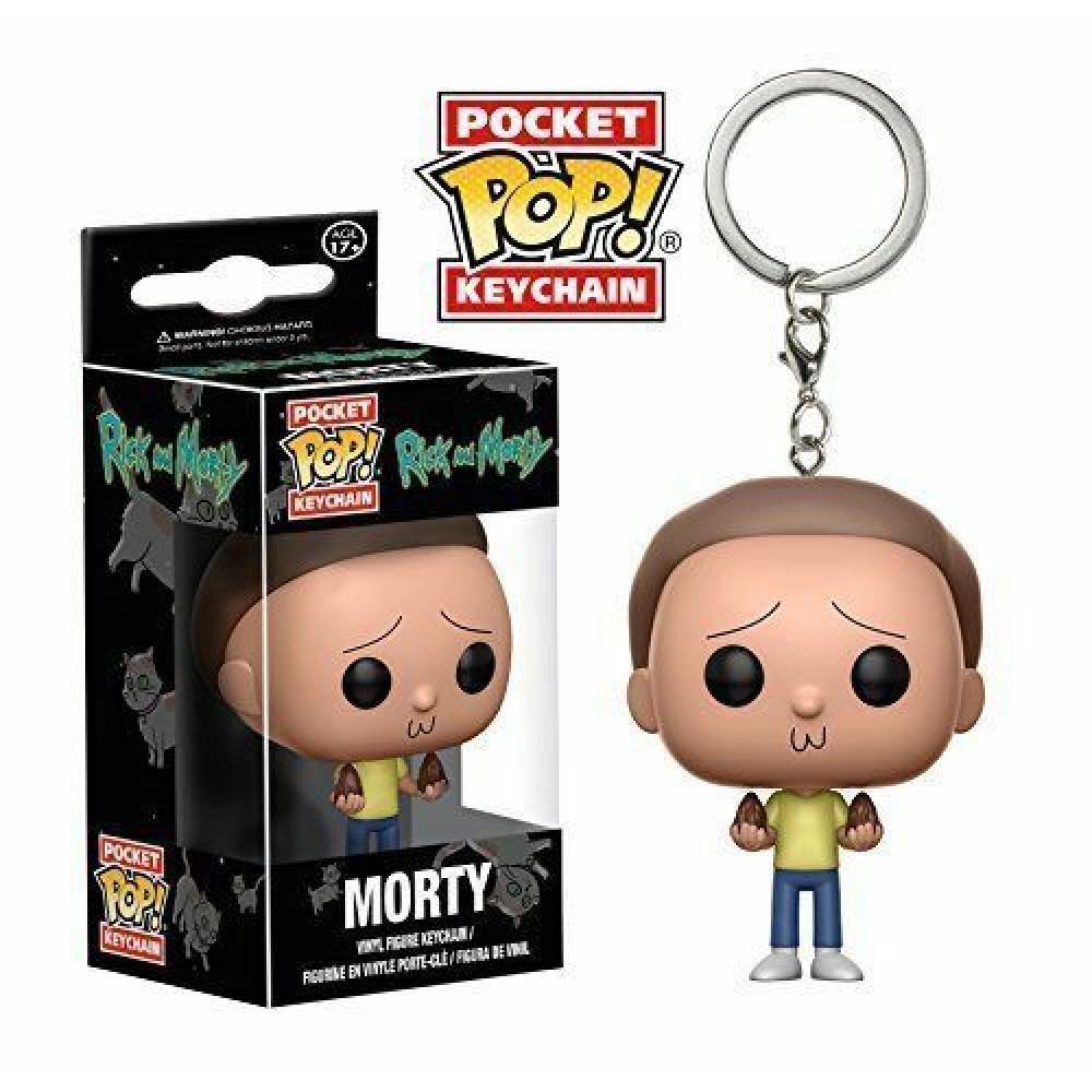 Rick And Morty Funko Pocket Pop Morty Keychain