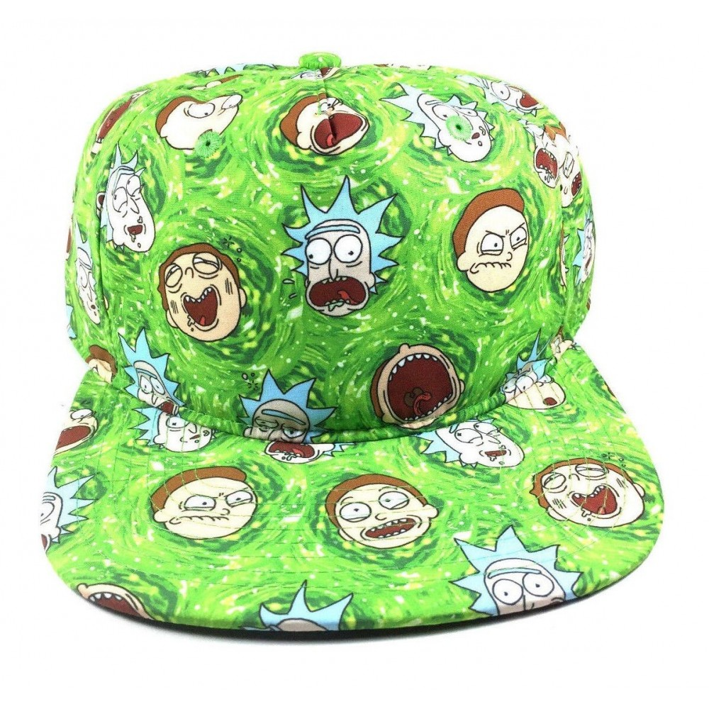 Rick And Morty Faces Snapback