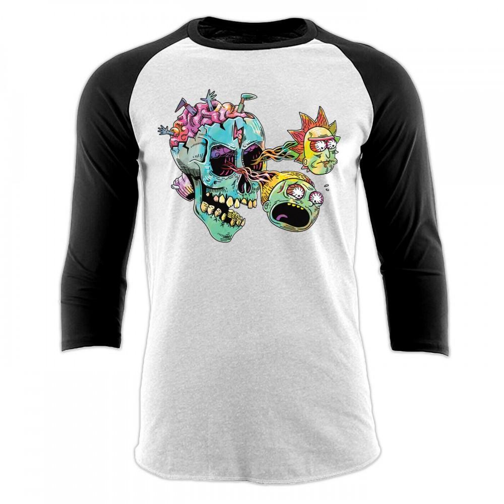 Rick And Morty Skull Eyes Baseball T-Shirt