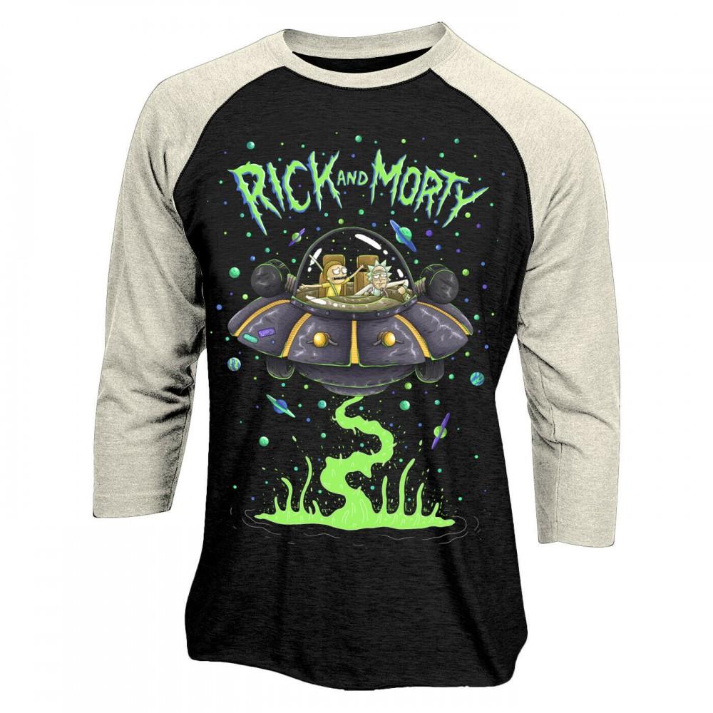 Rick And Morty Spaceship Baseball T-Shirt