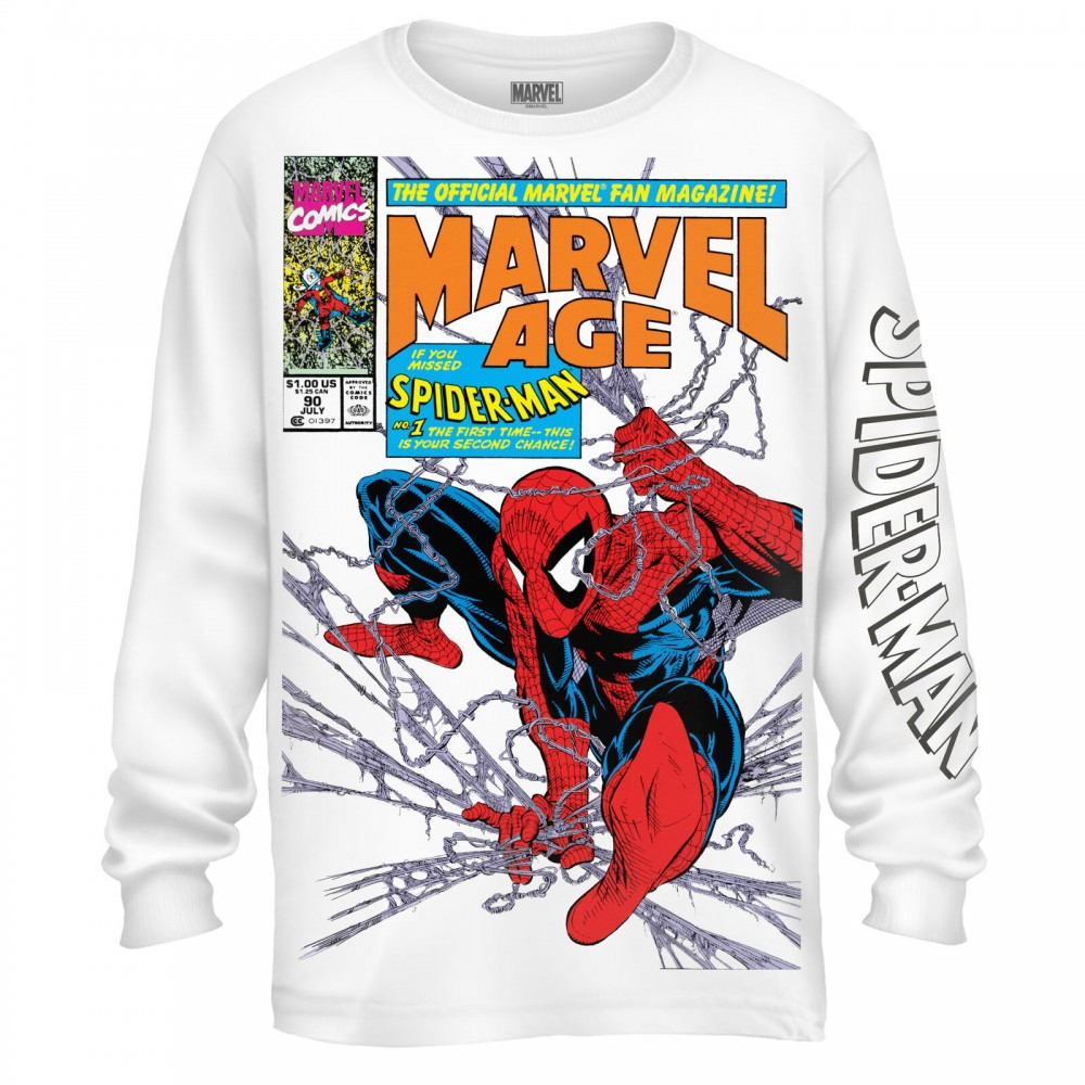Spider-Man 90's Marvel Age Men's Hoodie