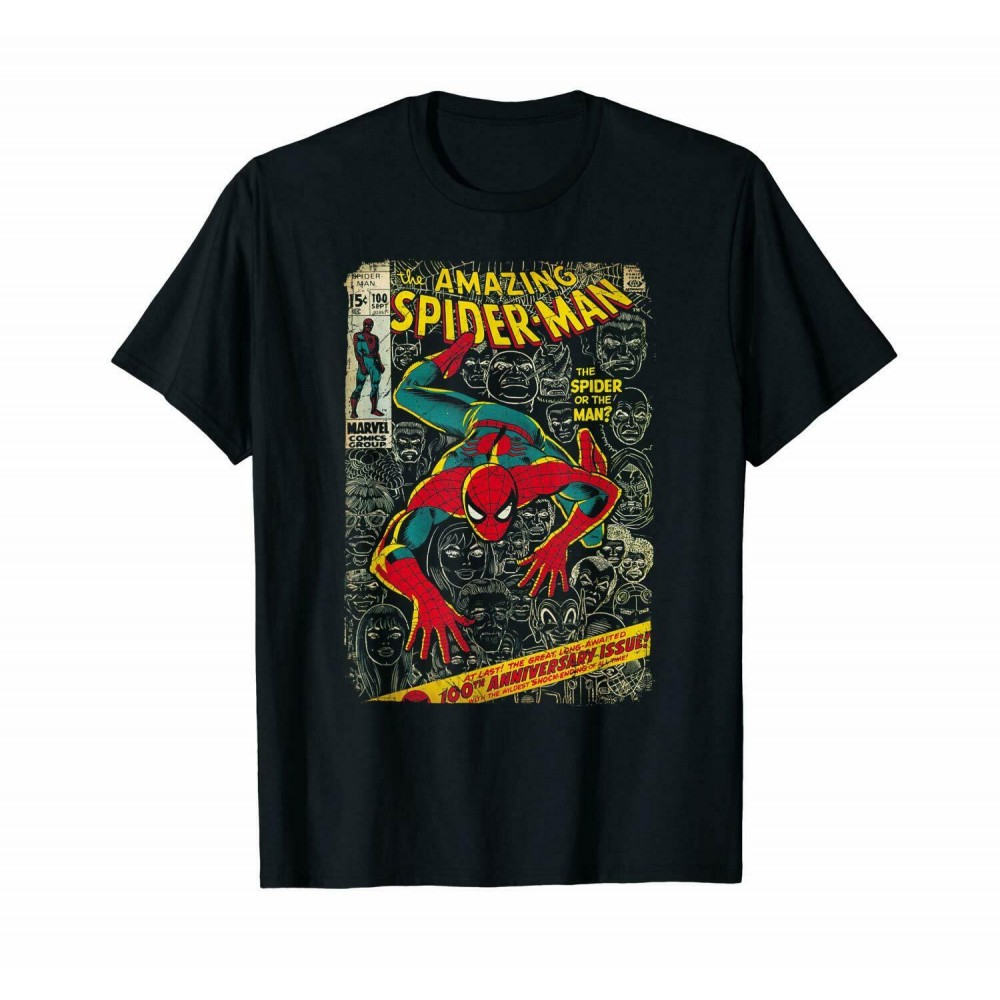 Spider-Man Comic Book Anniversary Graphic T-Shirt