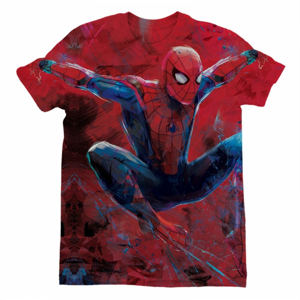 Marvel Spider-Man Far From Home Flying Sublimation Mens T-Shirt