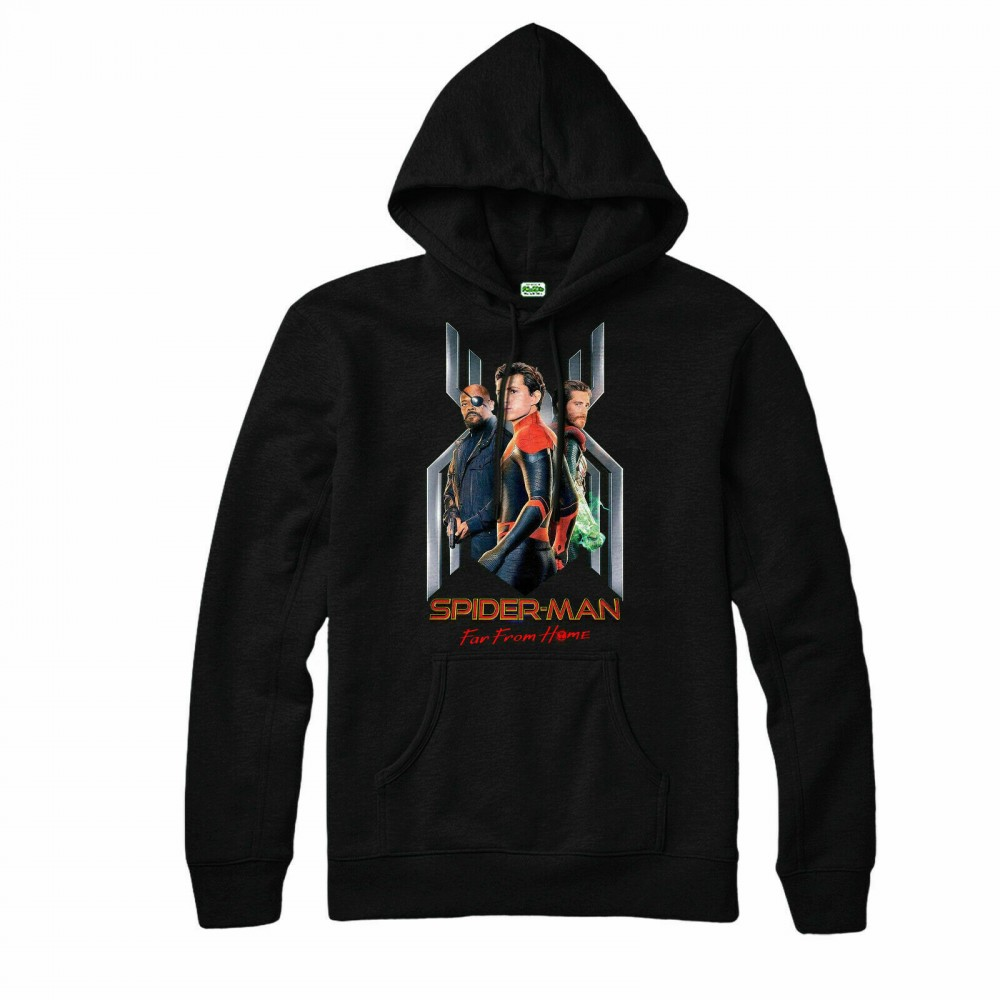 Spider Man Far From Home Poster Kids Hoodie