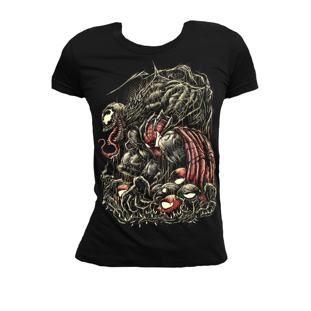 Venom Marvel vs Spiderman Women's T-shirt